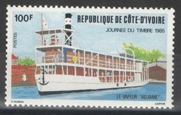 Côte D'Ivoire - YT 709 ** - 1985 - Bateau - Vapeur - Côte D'Ivoire (1960-...)