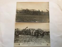 Carte Photo Et Carte Postale Zeppelin Abattu à Brabant La Roi  1914-1918 - 1914-18