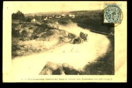 1 - Les Gardner-Serpollet Dans Le Circuit Des ARDENNES (un Joli Virage) - (Beau Plan Animé) - CP Précurseur, Avant 1905 - France