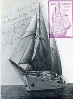 "R/V ""ZARJA"" MURMANSK USSR BOAT BARCO FOTO PHOTO SIZE 9.5X12.5 CM OBLITERES-LILHU - Bateaux"