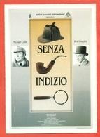 CINEMA-CARTOLINA MANIFESTO FILM-SENZA INDIZIO-MICHAEL CAINE-BEN KINGSLEY-NIGEL DAVENPORT - Manifesti Su Carta