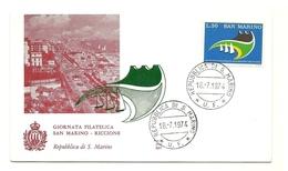 1974 - San Marino 920 Giornata Filatelica - FDC - Expositions Philatéliques
