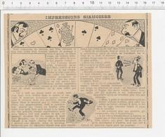 Presse 1906 Humour Touriste Siamois En France  (Siam) Et Cercle De Jeux Cartes Tapis Vert 223CHV3 - Vieux Papiers