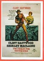 CINEMA-CARTOLINA MANIFESTO FILM-GLI AVVOLTOI HANNO FAME-CLINT EASTWOOD-SHIRLEY MACLAINE-M.FABREGAS - Manifesti Su Carta