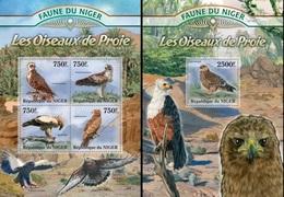 Niger 2013, Animals, Birds Of Prey, 4val In BF +BF - Niger (1960-...)
