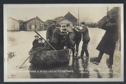 ST GILLES-LEZ-DENDERMONDE * OVERSTROMING * 1925-1926 * BEZOEK KONINKLIJK PAAR * NIET VERSTUURD - Dendermonde