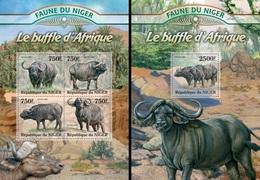Niger 2013, Animals, Buffalo, 4val In BF +BF - Niger (1960-...)