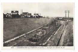 CORMEILLES En PARISIS  (cpa 93)  La Ligne De Chemin De Fer    -  L 1 - Cormeilles En Parisis