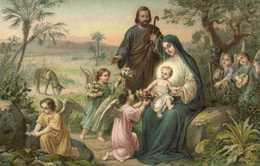 Illustrateur La Sainte Famille Et Les Anges RV - Anges