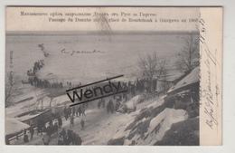 Roustchouk (passage Du Danube Sur La Glace 1905) - Bulgarie