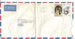 Australia Airmail 1974 Common Brushtail Possum 30c, 1973 Family, White Fluor. Paper Slogan Cancellation Postal History C - Airmail