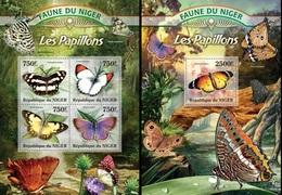 Niger 2013, Animals, Butterflies II, 4val In BF +BF - Niger (1960-...)