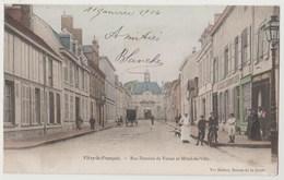CPA 51 VITRY LE FRANCOIS Rue Dominé De Verzet Et Hôtel De Ville - Vitry-le-François