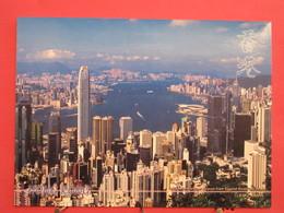 Hong Kong - Victoria Harbour Viewed From Lugard Road - The Peak - Scans Recto Verso - Chine (Hong Kong)