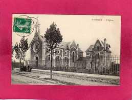 91 Essonne, Vigneux, L'Eglise, Animée, Enfants, 1910, (Paseal) - Vigneux Sur Seine