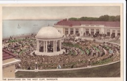 AQ99 The Bandstand On The West Cliff, Ramsgate - Animated, Band Playing - Ramsgate