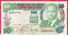 Kenya-- 10 Shillings Du 01/07/1988 ----XF/SUP+ - Kenya