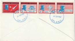 LETTRE - SANDA ISLAND - 1967 - J.F.KENNEDY - Emissione Locali