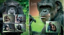 Niger 2013, Animals, Chimpanzees, 4val In BF+BF - Niger (1960-...)