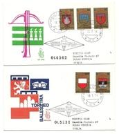 1974 - San Marino 921/25 Torneo Balestra - FDC - Buste