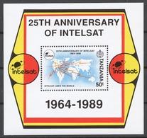 Tanzania 1991 Mi# Bl.159** INTERNATIONAL TELECOMMUNICATIONS SATELLITE ORGANIZATION - Tanzanie (1964-...)