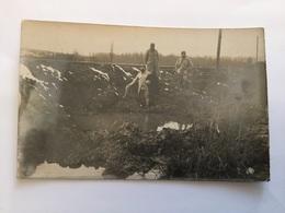 Carte Photo Trou De Bombe De Zeppelin à Brabant La Roi 1915 1914-1918 2 - 1914-18