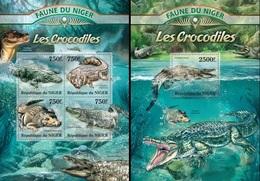 Niger 2013, Animals, Croccodiles, 4val In BF +BF - Niger (1960-...)