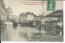 Carte Postale  :  Nantes -  Les Inondation Décembre  1910 Place Lamoricière Et Rue Brasserie - Nantes