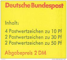 BRD MH 22 I O OZ, Postfrisch ** - Markenheftchen