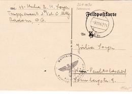 III. Reich, SS Feldpost Brief, Stempel : Waffen SS Veterinär Ersatzkompanie, Radom Nach Perchtoldsdorf B. Wien - Deutschland