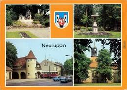 Neuruppin Fontanedenkmal Am Bahnhof Rheinsberger Tor Stadtkirche G1989 - Neuruppin
