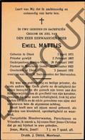 Doodsprentje Pater/Frère Emiel Mattijs °1871 Diest †1931 Diest Balen / Baelen-Neeth / Meerhout-Gestel(F129) - Décès