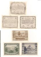 6 Notgeldscheine - 3 X Land Niederösterreich + 3 X Land Niederösterreich II. Auflage - Siehe Bilder - Autriche