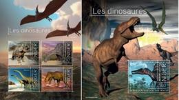 Niger 2013, Animals, Dinosaurus II, 4val In BF+BF - Niger (1960-...)