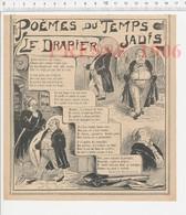 Presse 1906 Humour Métier Drapier Marchand De Draps Tissus Poème Edmond Haraucourt 223CHV3 - Vieux Papiers