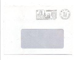 FLAMME EN PORT PAYE DE CONCHES EN OUCHE EURE 1990 - Postmark Collection (Covers)