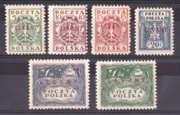 Levant - Bureaux Polonais - 1919 - Neufs * - Surcharges Carmin - Cote 480 - Levant (Turquie)