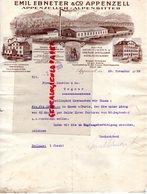SUISSE- APPENZELL- RARE LETTRE EMIL EBNETER & CO- ALPENZELLER-ALPENBITTER-DISTILLERIE SCHUTZMARKE-1929 - Suisse