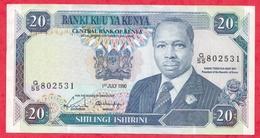 Kenya-- 20 Shillings 01/07/1990 ----XF/SUP+ - Kenya