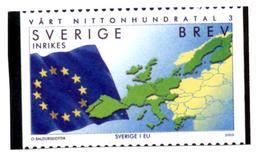 SWEDEN SUEDE 2000 - BREV Official Photo Officielle - Europe Europa Map Maps Flag Flags Flaggs Flaggen - 2000