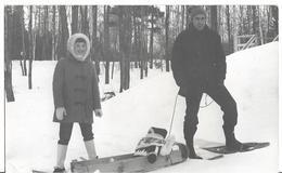 CP Photo - QUEBEC - Skieurs En Raquette Et Luge - Quebec