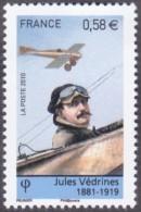 France Transport Avion N° 4508 **  Pionniers De L'Aviation -> Jules Védrines - Airplanes