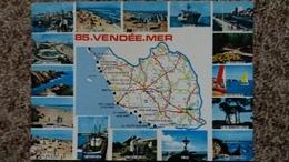 CPSM GEOGRAPHIQUE DEPARTEMENT DE LA VENDEE D APRES CARTE MICHELIN N° 989 ED CIM 1989 - Cartes Géographiques
