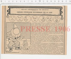 Presse 1906 Humour Expression Du Visage Physionomie Clown 223CHV3 - Vieux Papiers