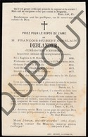 Doodsprentje Pater/Frère François-Hubert -Ghislain Deblander °1826 Enghien / Edingen †1877 (F130) - Décès