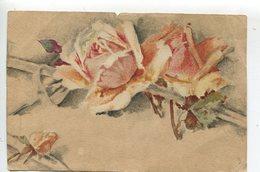 Fleurs  Roses Peinte à La Main - Fleurs