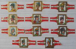 B02 Lot Bagues De Cigares  Mercator Vander Elst  Série VIII Couvre Chefs Militaires  11 Pièces - Bagues De Cigares