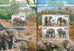 Niger 2013, Animals, Elephant, 4val In BF +BF - Niger (1960-...)
