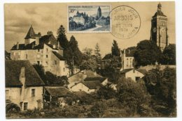 10138  FRANCE N° 905  Arbois  PJ Du 23.6.51  TB - Maximum Cards