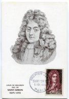 10139  FRANCE N° 1008  Saint-Simon  PJ Du 5.2.55  TB - Maximum Cards